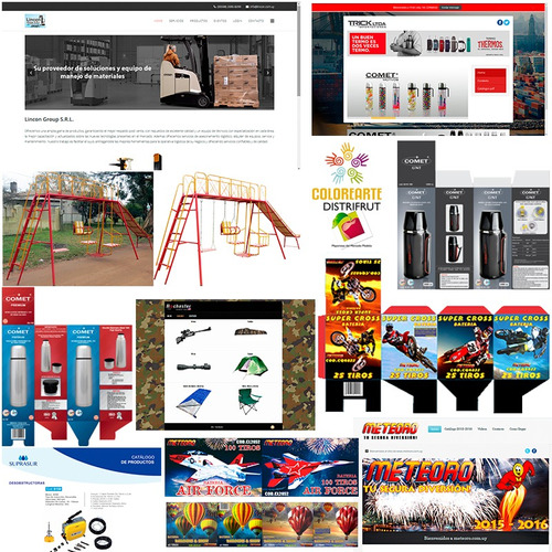 diseño gráfico, diseño web, catálogos, logos, y más