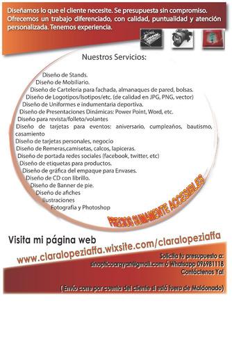 diseño gráfico/logos/tarjeteria/fotografia y más