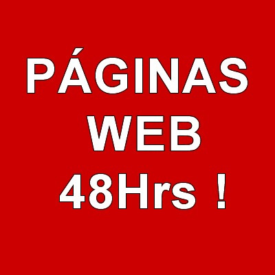 diseño páginas web, tu página web en 48hrs!