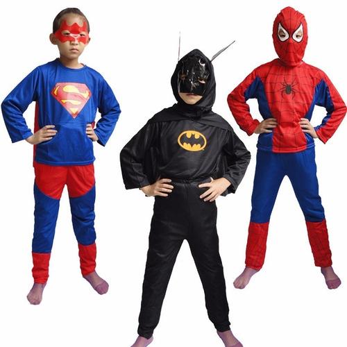 disfraz de batman talles  para 2 a 6 años.