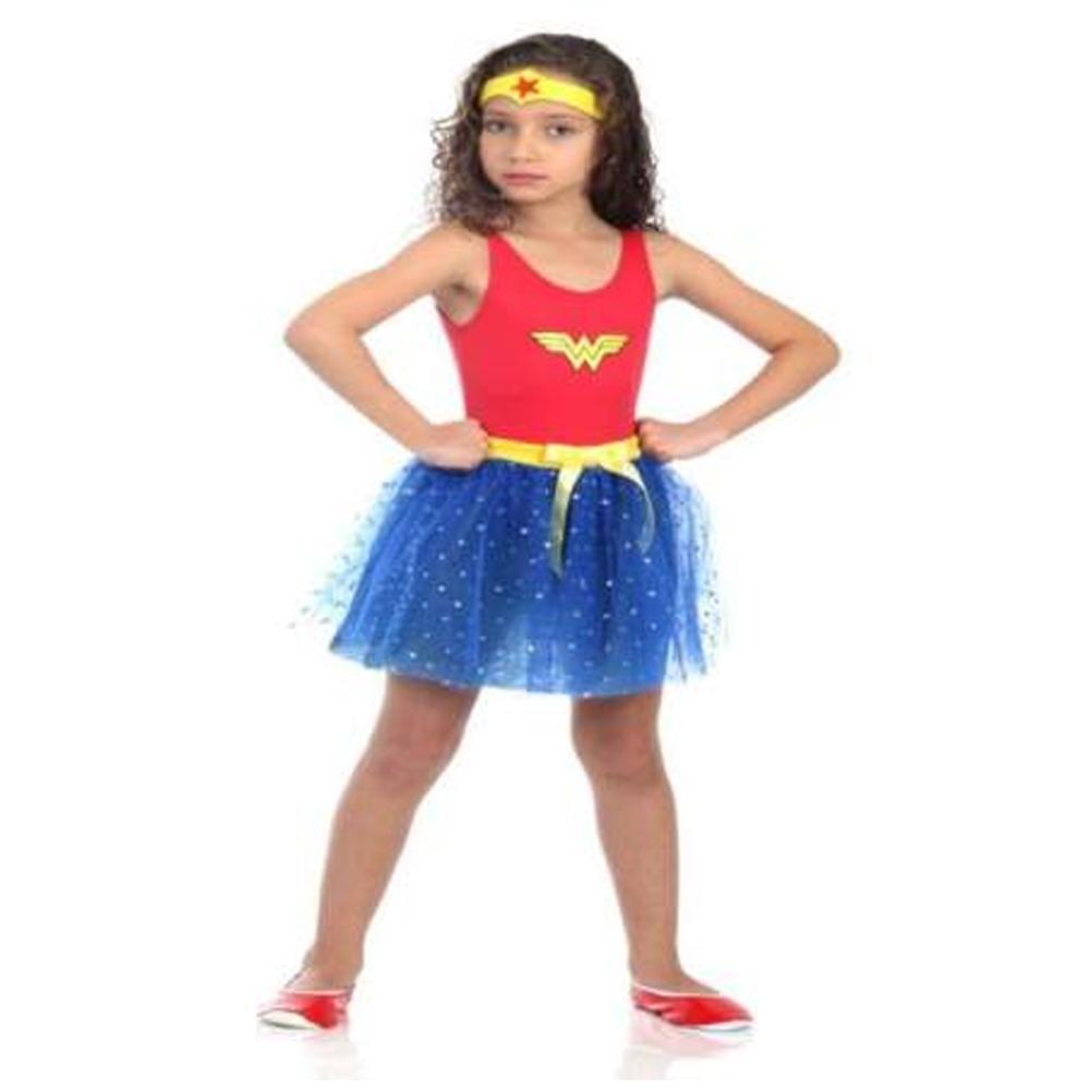 Disfraz Vestido Dc Comics Mujer Maravilla 3 4 Años 16308p