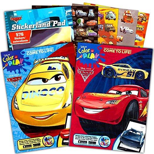 Disney Cars Coloring Book Set (2 Libros Con Rayo Mcqueen - 9 ...
