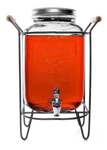 dispensador de jugo agua  8lts con soporte + canilla