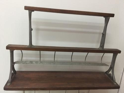 dispensador de papel antiguo dos tamaños madera dura subasta