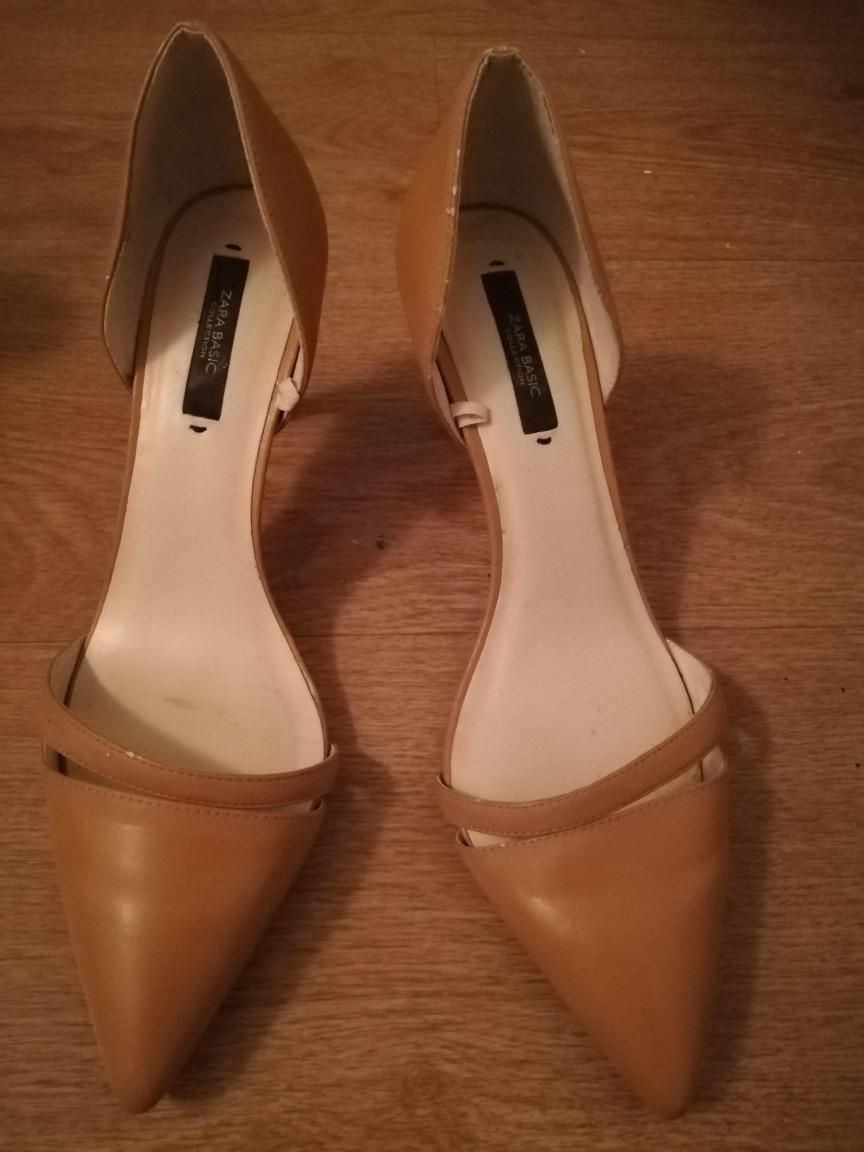 nueva productos 78729 329cd Divinos Zapatos Zara Color Camel Número 39 - $ 450,00
