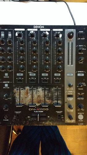 dj mixer denon 4 canales, 8 entradas + fx externo - dn-x1100