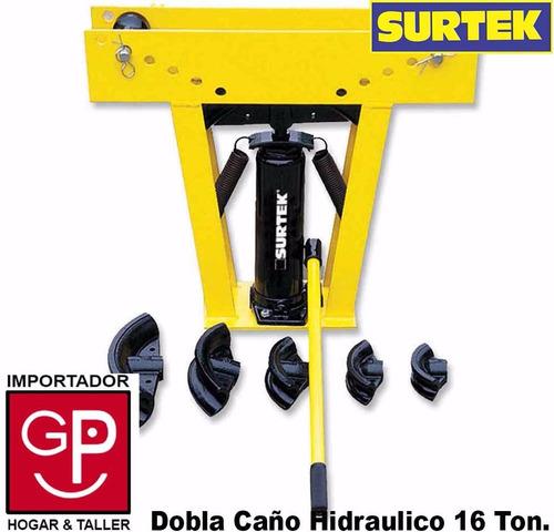 dobladora de caño hidráulico 1/2 a 3´´ 16 toneladas surtek