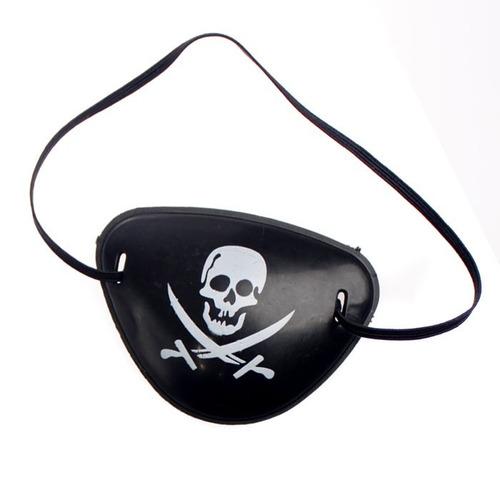 docena de parche pirata de plástico (halloween, disfraces)