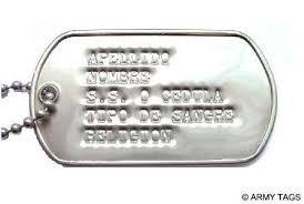 dog tags placa de identificacion militar