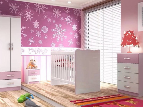 dormitorio infantil cuna bebe + colchon. sensacion