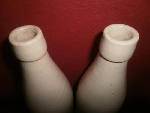 dos antiguos porrones en gres de 1/2 litro coleccionables