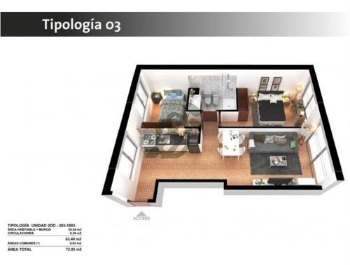 dos dormitorios, divinas terminaciones, ideales para renta o vivienda. financiación durante la obra.  - ref: 1413