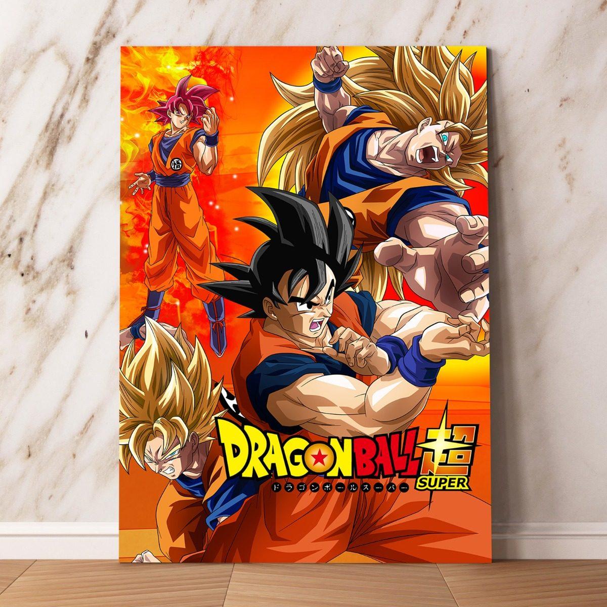 Dragon ball z goku cuadros mdf mural afiches posters 60x40 for Cuartos decorados de dragon ball z