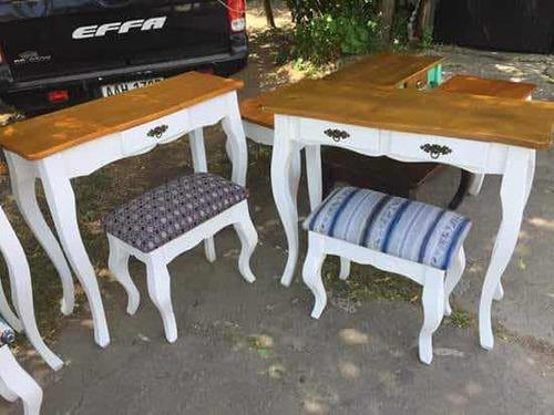 dressoire, mesa de arrime, recibidor y banqueta tapizada