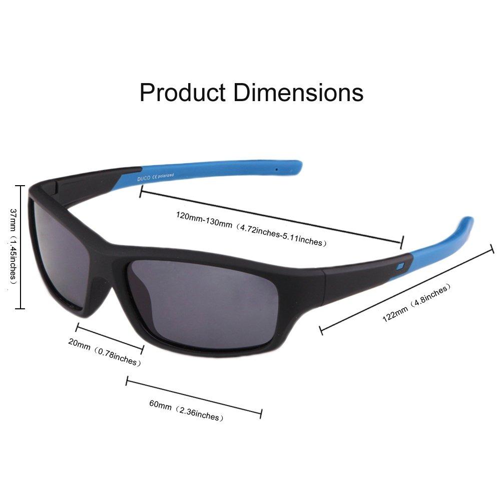 a5ee593af8 duco niños deportes estilo polarizado gafas de sol marco. Cargando zoom.