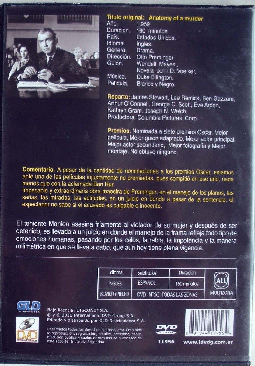 Dvd - Anatomia De Un Asesinato - Stewart - Gazzara - Reemick - $ 200 ...