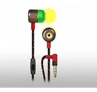 earphones maxell en madera con mic rasta intrauditivo