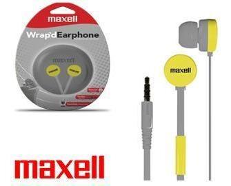 earphones maxell flat gris estuche silicona con microfono