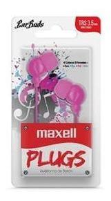 earphones maxell pink plugs fidelidad de sonido