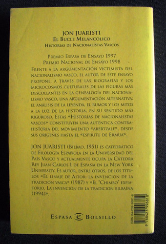 el bucle melancolico- historias de nacionalistas vascos