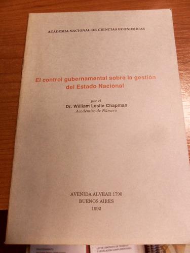 el control gubernamental sobre la gestión del estado naciona