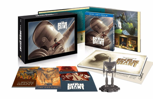 el gigante de hierro , the iron giant boxset blu-ray + dvd