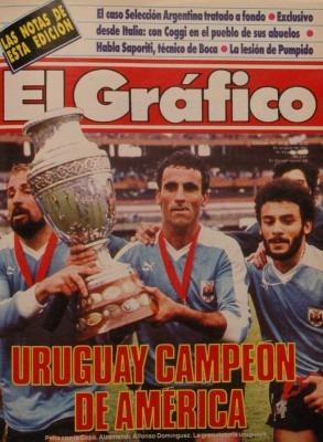 el grafico uruguay campeon de america 1987