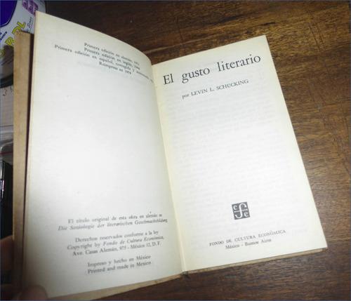 el gusto literario _ levin schuking - fce / breviarios
