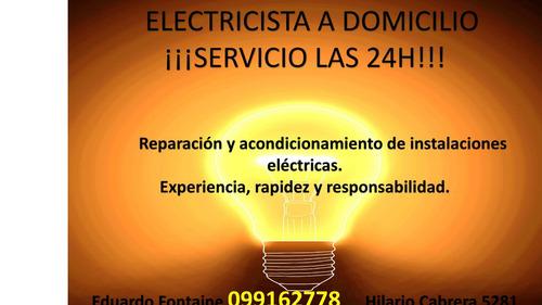 electricista a domicilio    servicio las 24h!