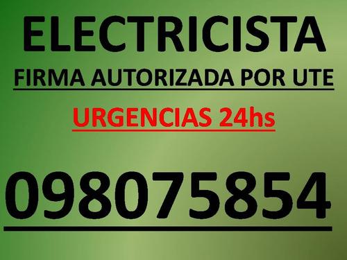 electricista habilitado por ute. urgencias 24hs. 365 dias.
