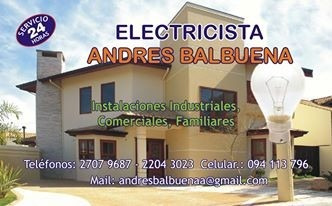 electricista service 24 hs  zona pocitos cordón