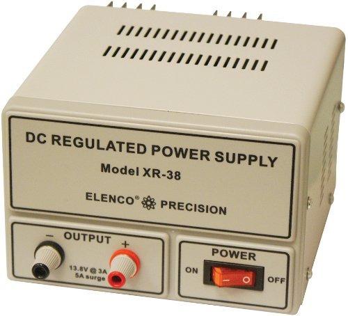 elenco xr 38  regulated 13.8vdc at 3a power