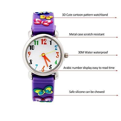 eleoption impermeable 3d lindo de dibujos animados reloje