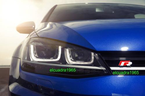 emblema insignia volkswagen r vw rally delantero parrilla