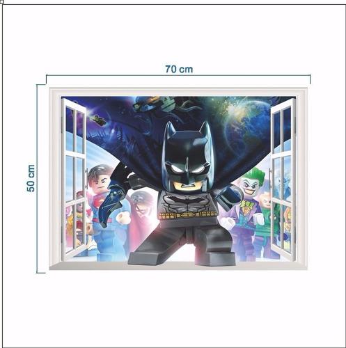 empapelado 3d joven niño pared mural adhesivo batman lego