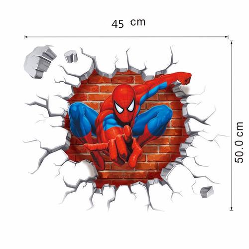 empapelado 3d pared cuarto niño spider man stickers adhesivo