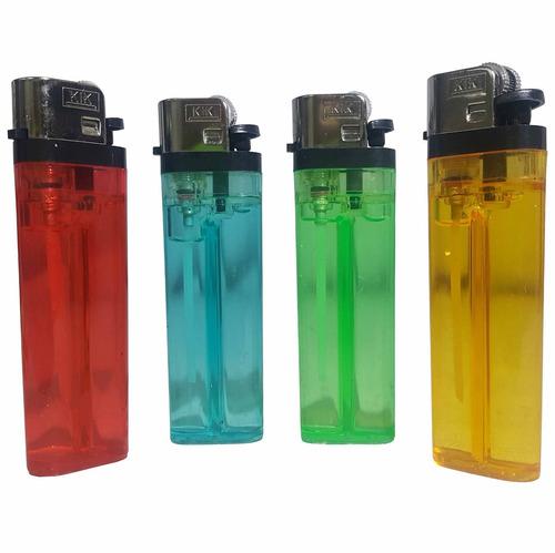 encendedor transparente clasico varios colores - el regalón