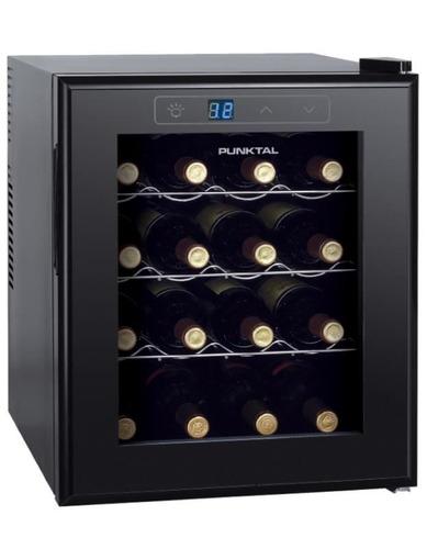 enfriadora punktal 16 botellas, luz, display digital