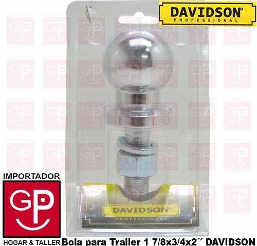 enganche para trailer tipo bola 1 7/8x3/4x 2´´ davidson