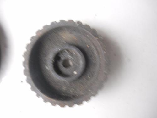 engranaje de distribución y punta de cigueñal fiat 128