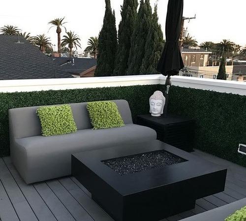 enredadera jardín vertical artificial trébol panel 40x60 cm
