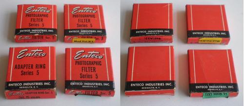 enteco series 5 antiguo 3 filtros y adaptador con manual c/u
