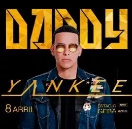 entradas daddy yankee / fila 1 y 2 vip fans - geba