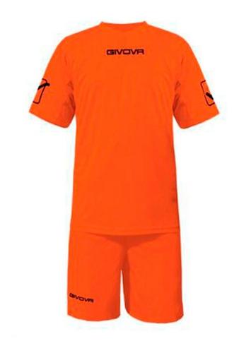 equipamiento givova fútbol conjunto camiseta short celeste