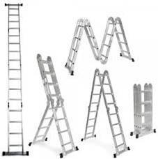escalera 2.8m de aluminio multifunción 8 escalones