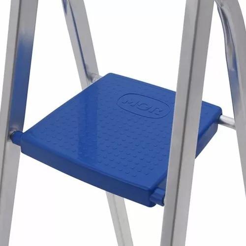 escalera aluminio 4 escalones mor. pintureria america