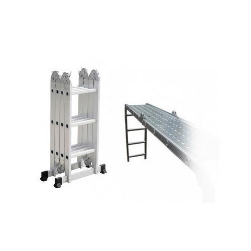 escalera andamio 3.4 mts 12 escalones + chapones - la compra