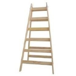escalera de madera tipo pintor 12 escalones 3.6 metros