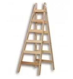 escalera de madera tipo pintor 6 escalones 1.8 metros