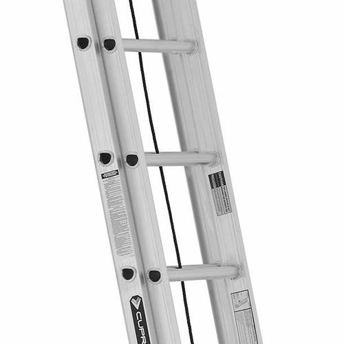 escalera extensible coliza de aluminio 20 escalones 6 mts